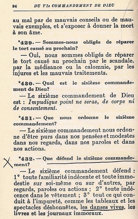 Extrait du catéchisme des provinces ecclésiatiques, Québec 1945